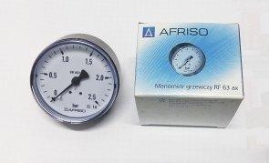 AFRISO MANOMETR 63 2.5 BAR AXIALNY