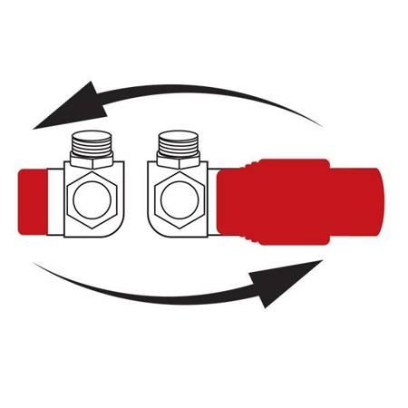 Ferro zestaw termostatyczny kątowy antracyt ZTO30AT