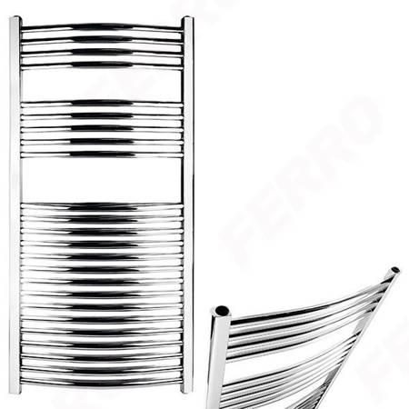 Grzejnik łazienkowy Ferro 600x1600 łuk chrom