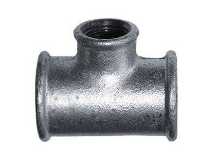 Trójnik ocynk ocynkowany redukcyjny 3/4x1/2 cala
